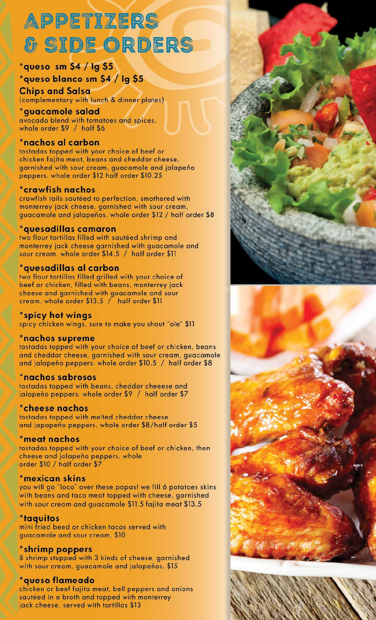 Our Menu Nicky S Mexican Restaurant